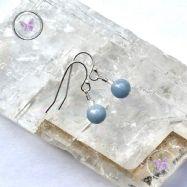 Angelite & Crystal Quartz Earrings